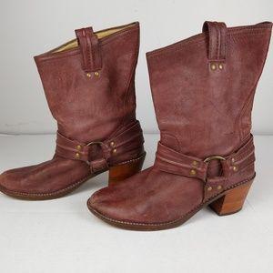 Frye Carmen Harness Short Boots